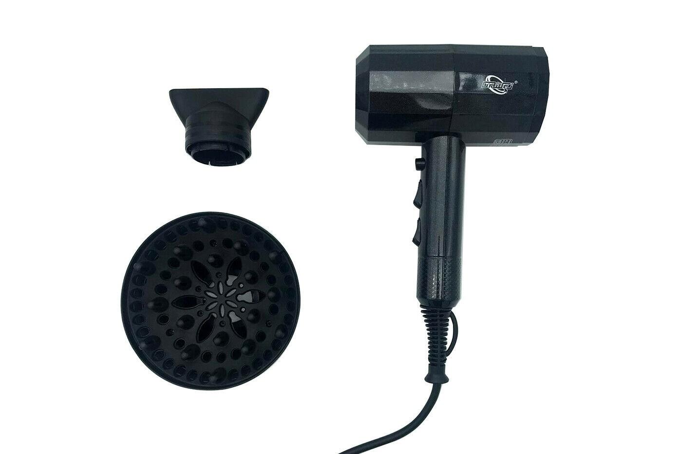 Asciugacapelli DW 045 3000W hair dryer phon per capelli agli ioni con diffusore